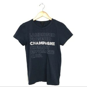 J.Crew Champagne Graphic T-Shirt Sequin Small B3
